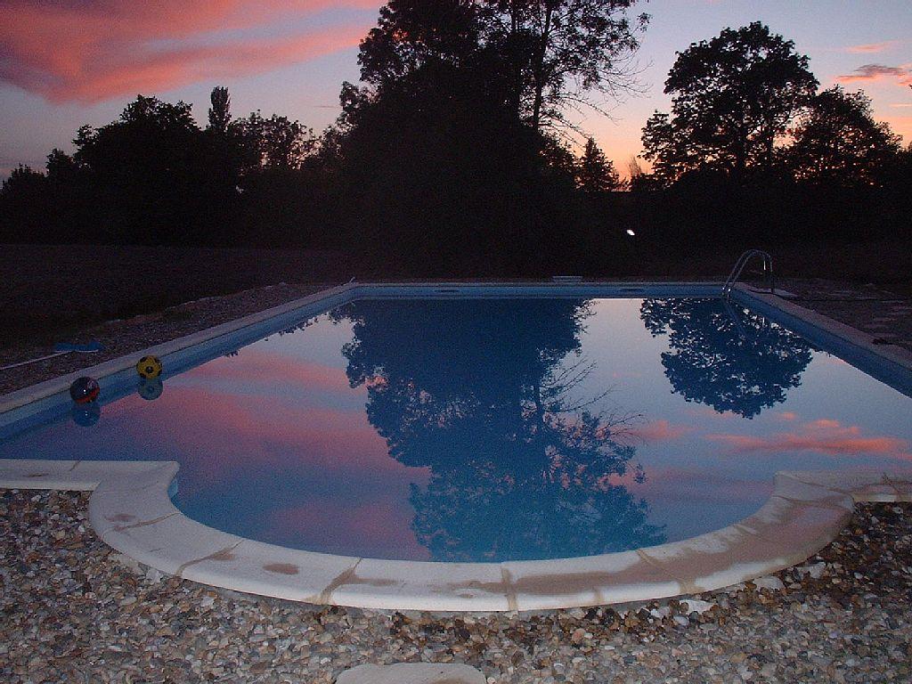 La Roche - Sunset over the Swimming Pool